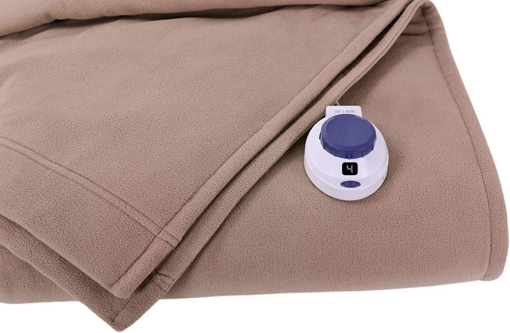 SoftHeat by Perfect Fit Luxury Fleece Electric Heated Blanket