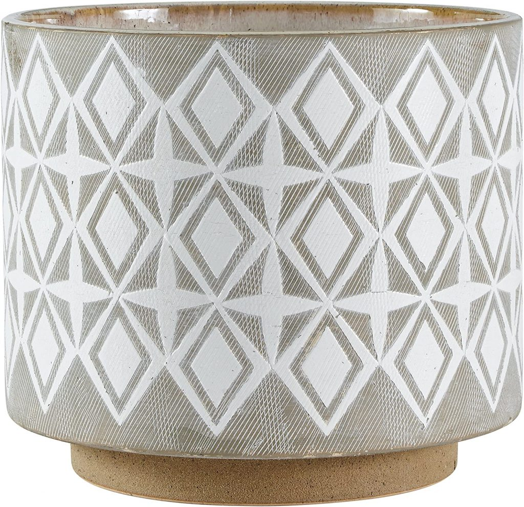 Amazon Brand – Rivet Geometric Ceramic Planter