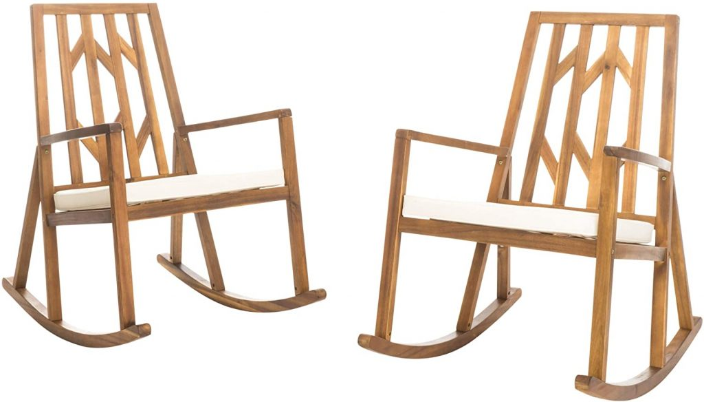 Christopher Knight Home Nuna Outdoor Wood Rocking Chairs