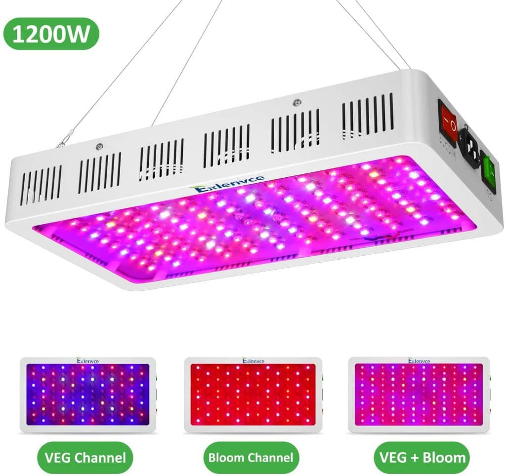 Exlenvce 1500W 1200W LED Grow Light