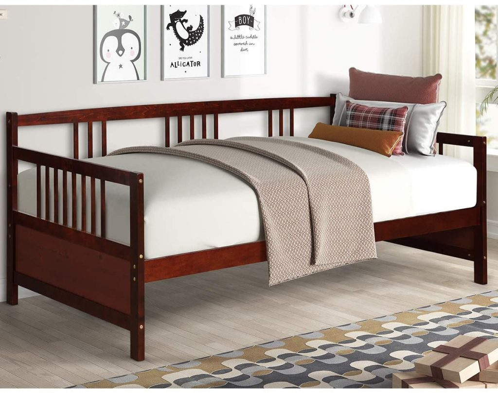 Giantex Wooden Daybed (Espresso)