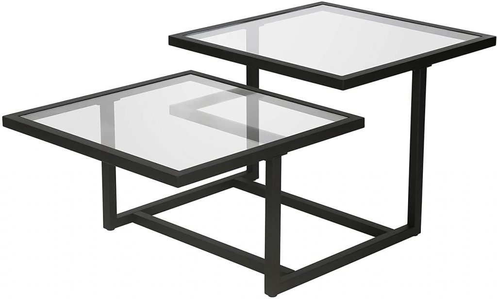 Henn&Hart Modern Chic 2-Tier Coffee Table