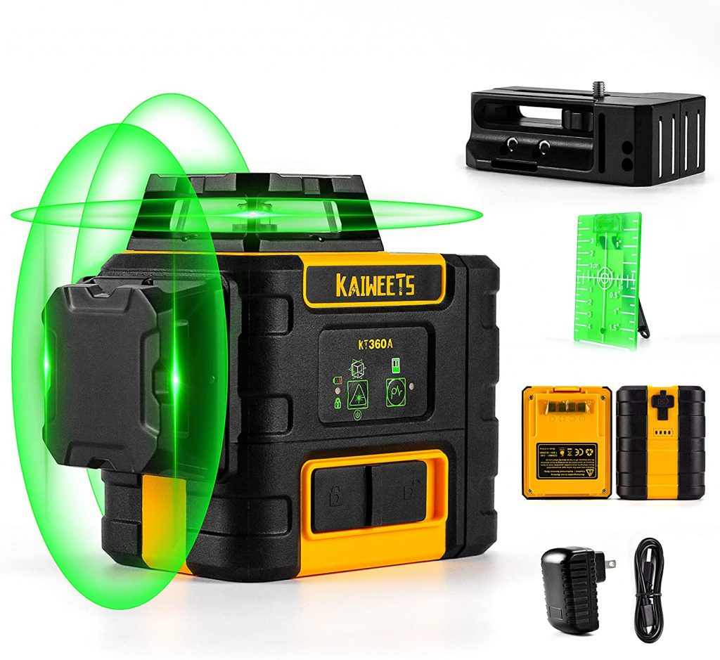 KAIWEETS Laser Level 3 X 360 Green Line, (KT360A)
