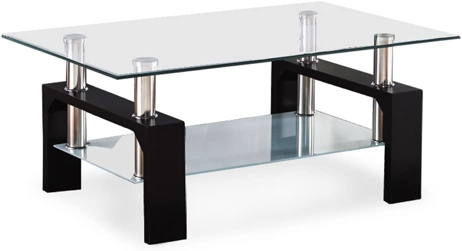 Mecor Rectangle Glass Coffee Table
