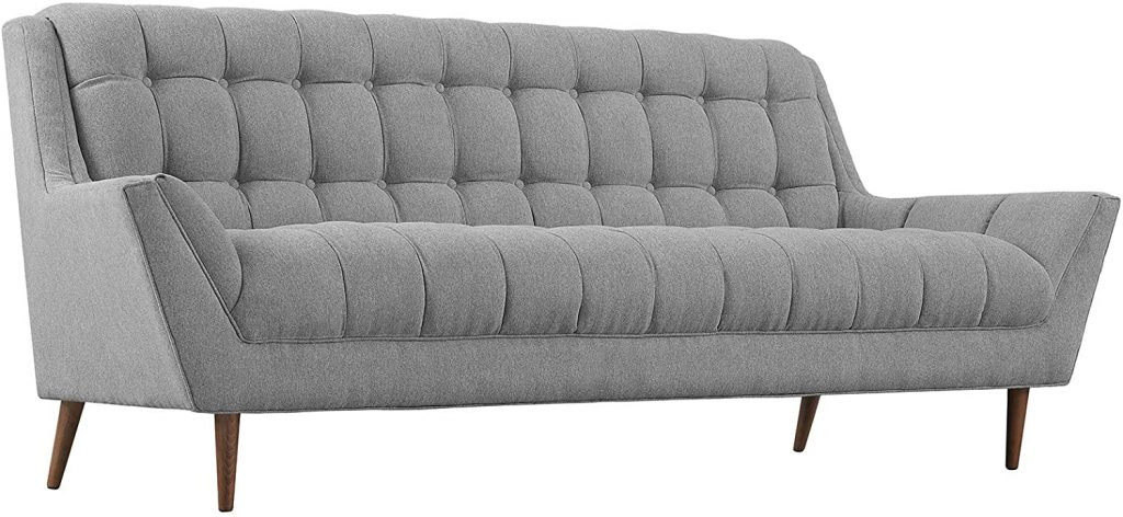 Modway Response Mid-Century Modern Sofa Upholstered Fabric