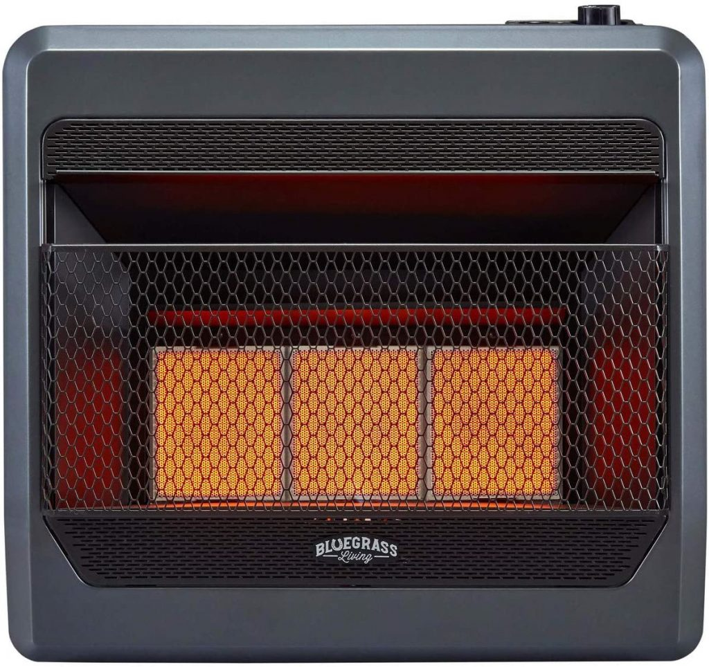 Bluegrass Living B30TNIR-BB Heater with Blower, Black