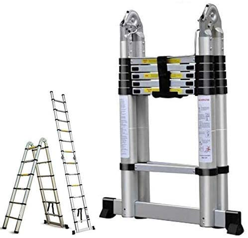 Bowoshen16.5FT Aluminum Telescoping Extension Ladder