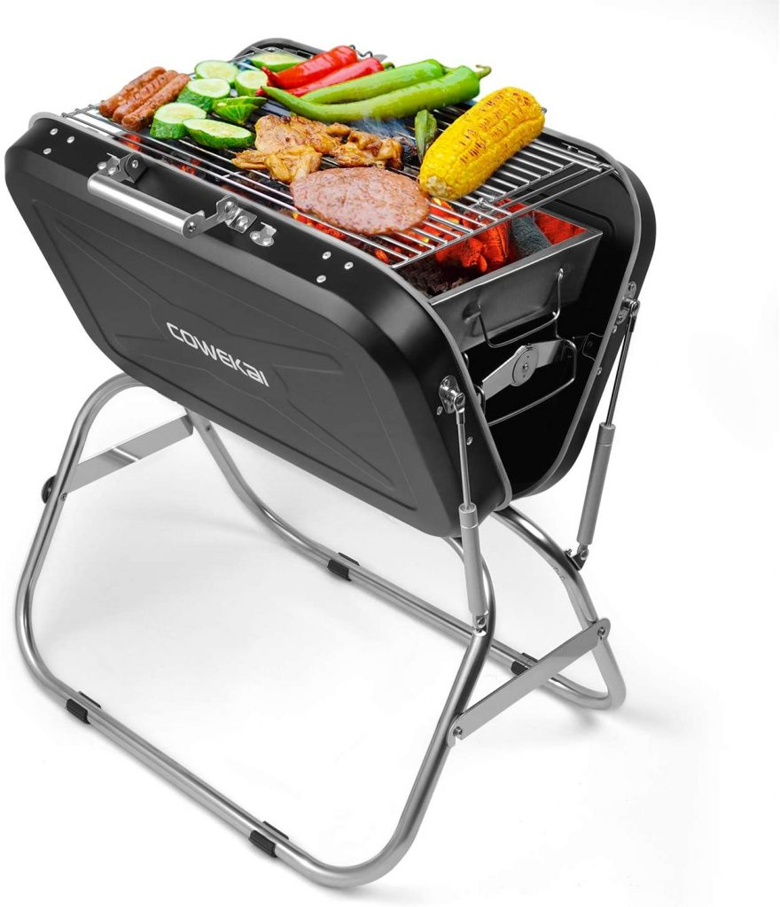 COWEKAI Stainless Steel Folding Charcoal Barbecue Grill