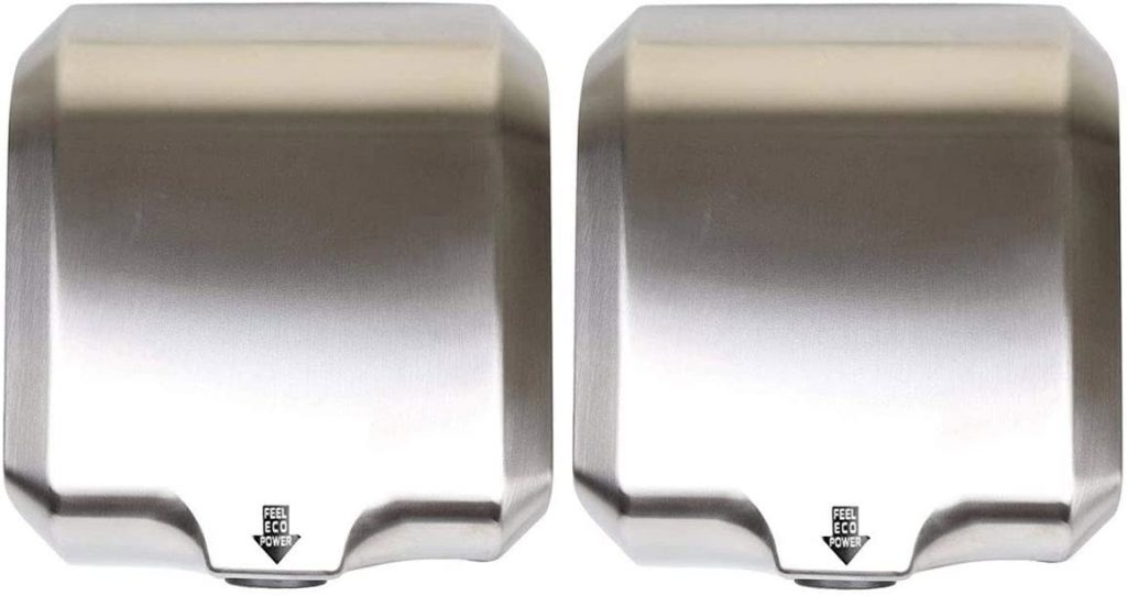 Goetland Stainless Steel Commercial Hand Dryer 1800w (Pack of 2)