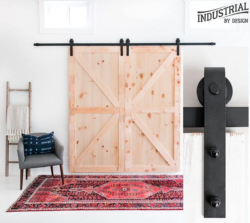 INDUSTRIAL BY DESIGN – 10ft Barn Door Hardware Kit