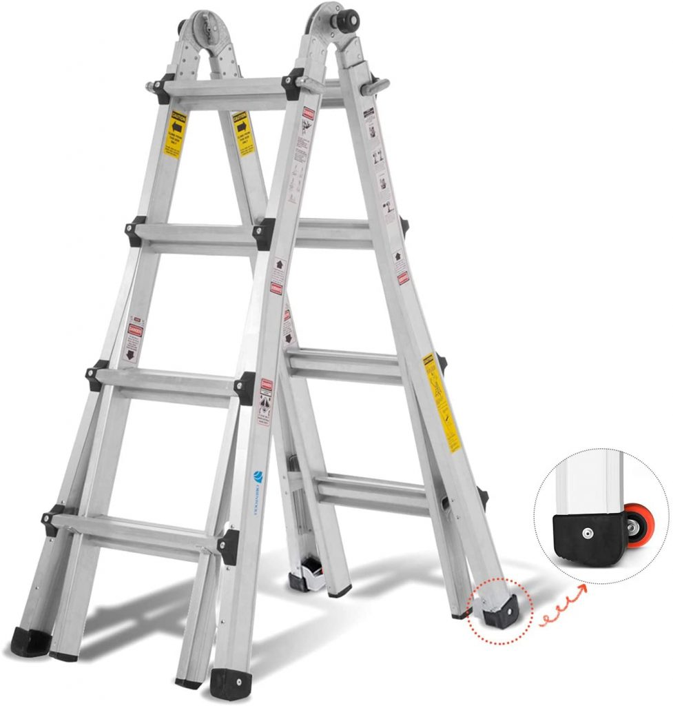 ORIENTOOLS Aluminum Extension Ladder