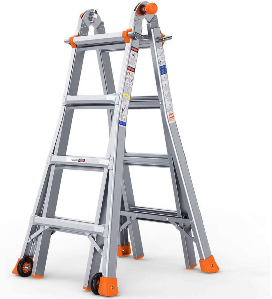 OT QOMOTOP 17 FT Multi-Use Telescoping Ladder