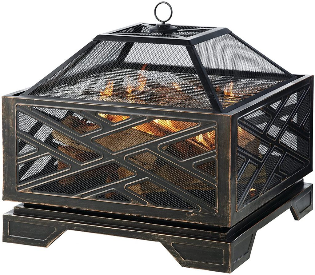 Pleasant Hearth Martin Wood Burning Fire Pit