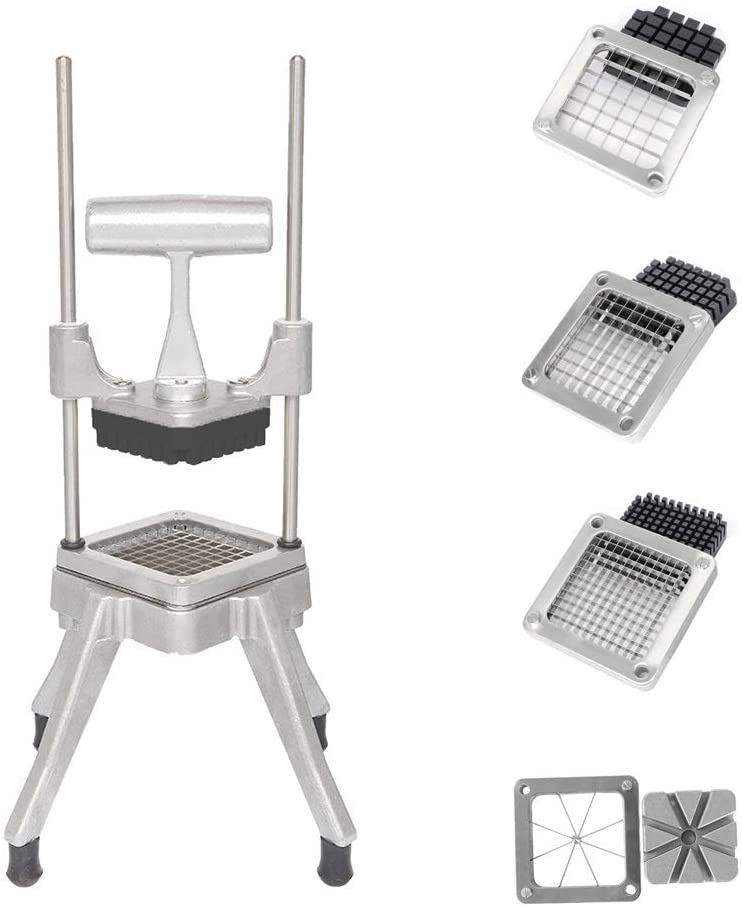 ROVSUN Commercial French Fry Cutter with 4 Sizes Blades