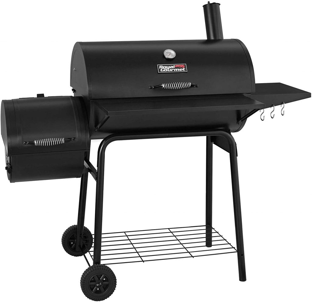 Royal Gourmet 30In BBQ Charcoal Grill and Offset Smoker