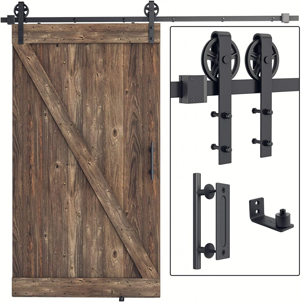SMARTSTANDARD 8FT Sliding Barn Door Hardware Kit