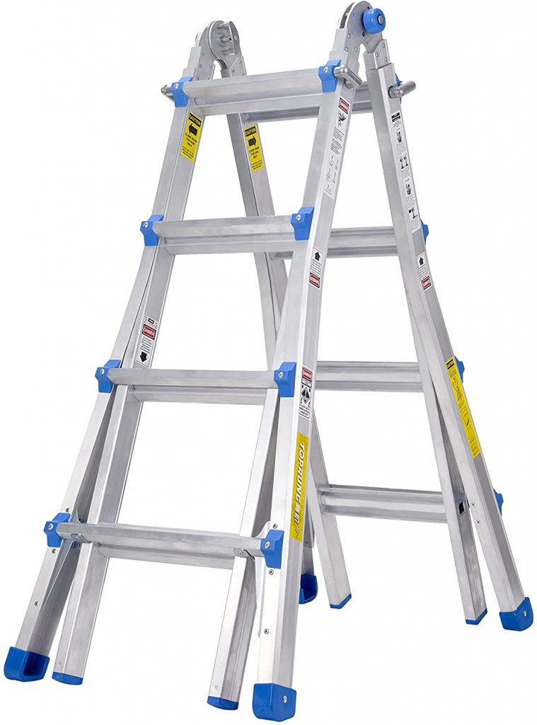 TOPRUNG Model-17 ft. Aluminum Multi-Purpose Ladder