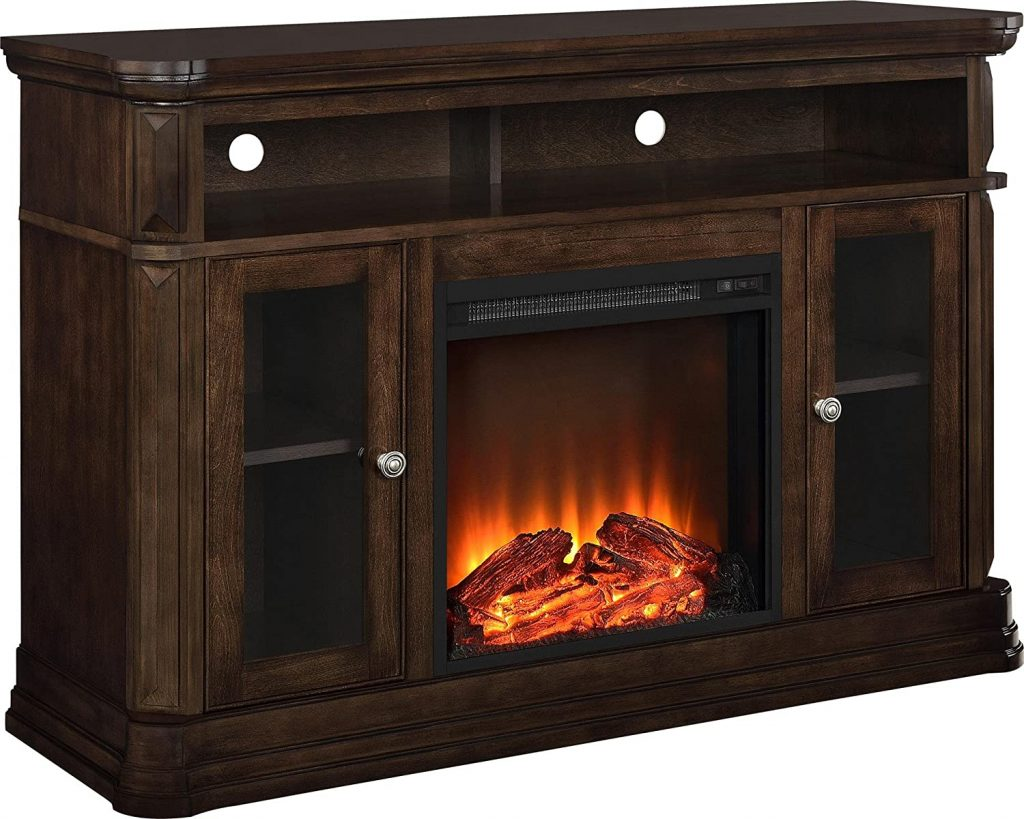 Ameriwood Home Brooklyn Electric Fireplace TV