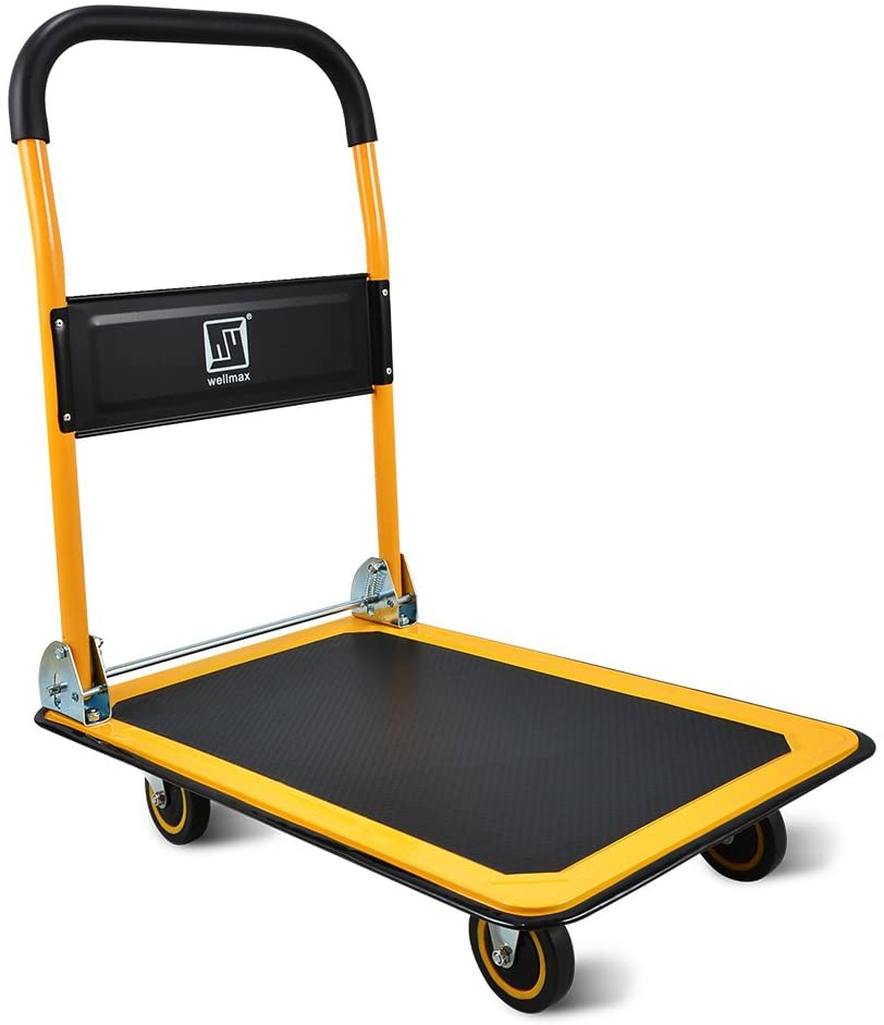 Push Cart Dolly by Wellmax, Moving Platform Hand Truck