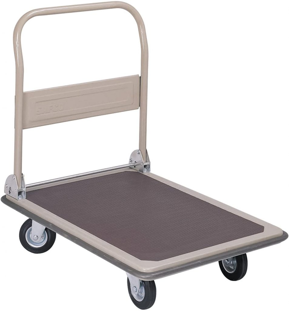 Safco Products 4078 Fold Away Large Platform Utility Hand Truck