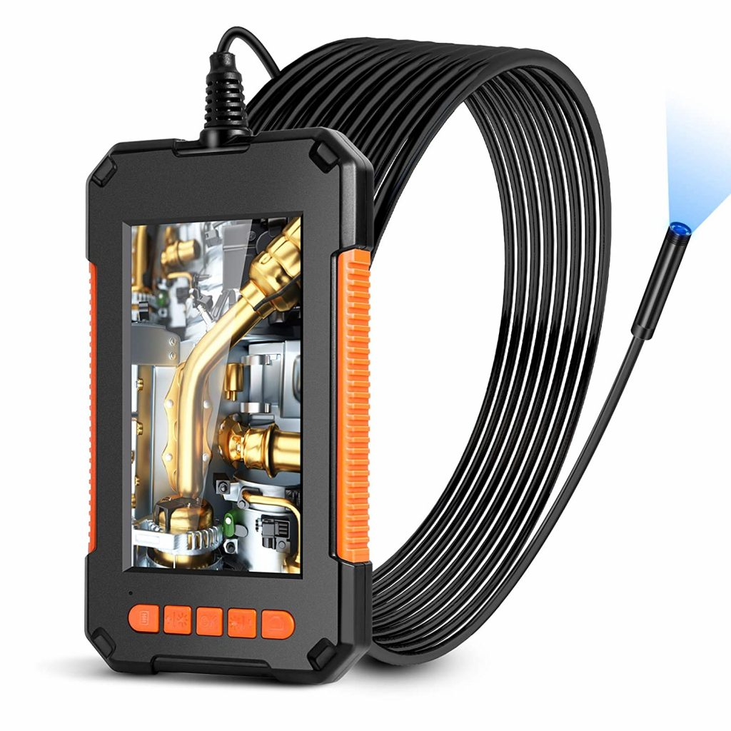 LONOVE Borescope Camera 1080P HD Video Inspection Camera with IPS