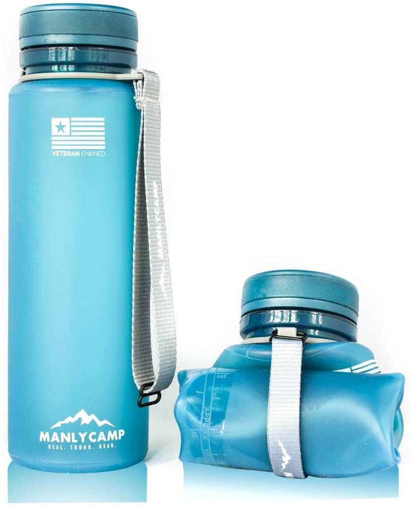 MANLYCAMP Collapsible Water Bottle
