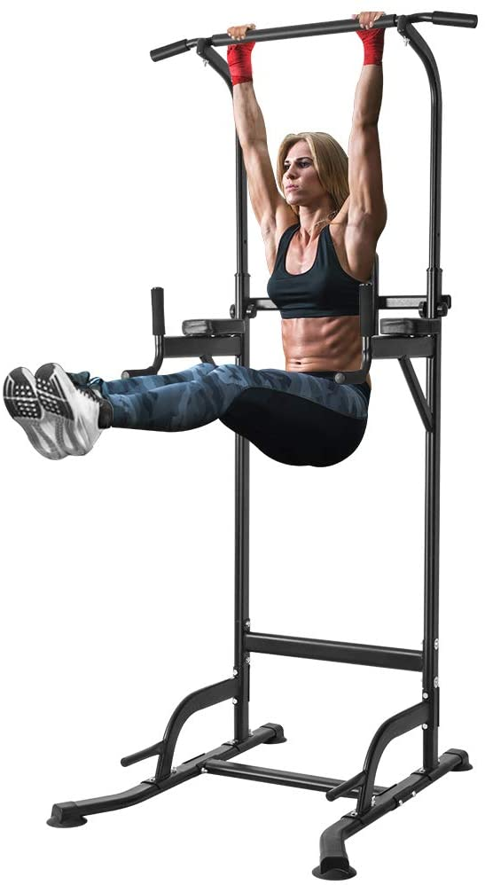 ONETWOFIT Multi-Function Power Tower Adjustable Height Home Fitness Workout Station