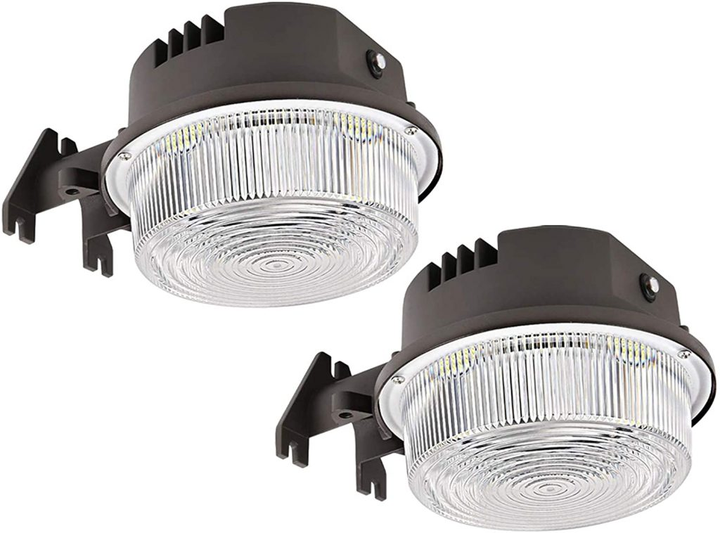 SZGMJIA 6500lm 2-Pack LED Barn Light with Photocell