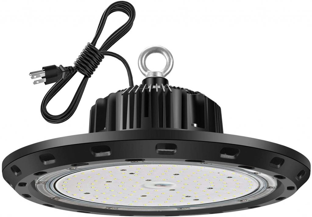 Vemofoper LED High Bay Light 100W UL Approved 5'Cable with US Plug