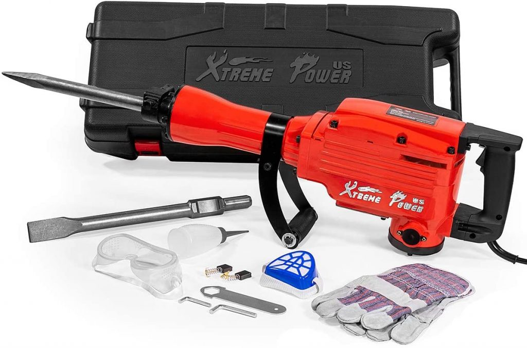 XtremepowerUS 2200Watt Heavy Duty Demolition Jack Hammer