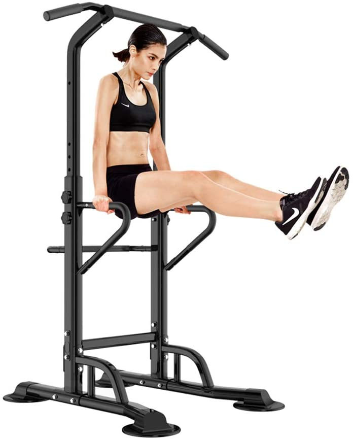 soges Power Tower Adjustable Height Pull Up & Dip Station